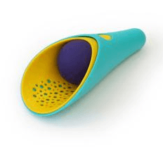 Quut - Cuppi Shovel Sieve Ball Green/Yellow