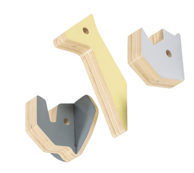 Sebra - Wooden Wall Hooks Rhino And Friends
