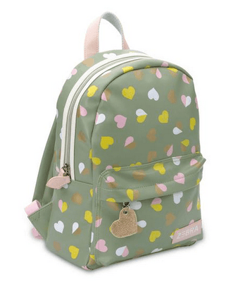 Zebra Trends - Backpack Medium Hearts Green