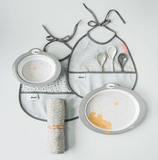 Done By Deer - Dinner Set Contour Grey Gold