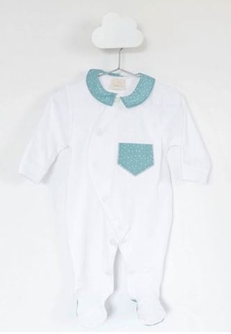 Baby Gi - Babygrow Little Fish Green Water