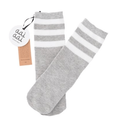 Aai Aai - Kneesocks Stripes Grey