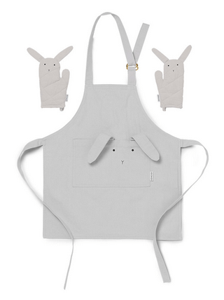 Liewood - Vincent Apron Rabbit Dumpo Grey
