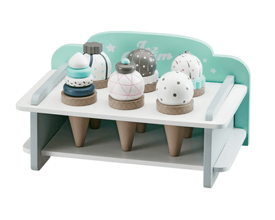 Kids Concept - Ice Cream Rack With 6 Ice Creams