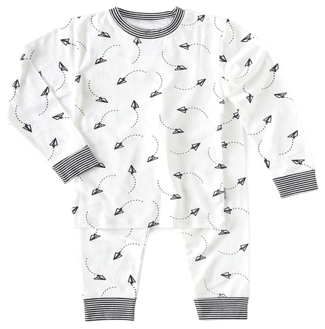 Little Label - Pyjamaset Airplane in black