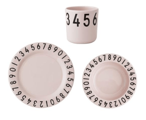 Design Letters - Melamine the Number Gift Set Pink