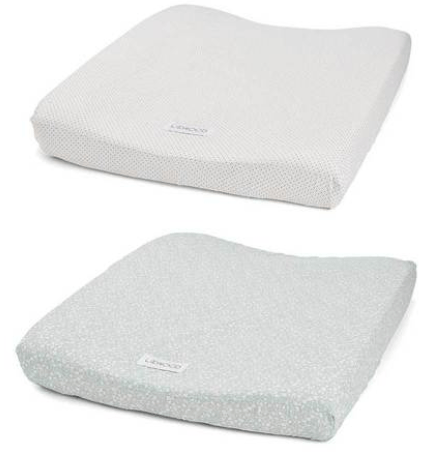 Liewood - Coco Changing Mat Cover 2pack Urban garden/little dot creme de la creme
