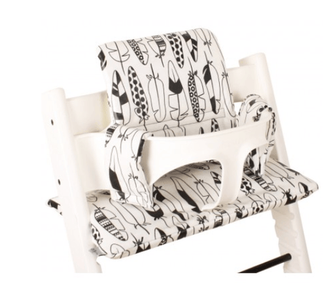 Ukje - Cushion Set Triptrap Black And White Featers