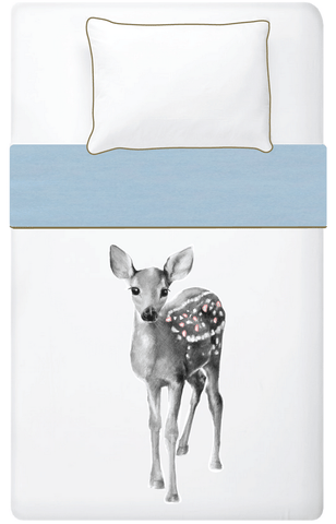 Miss Princess and little frog - Set Duvet cover Tencel Bambi