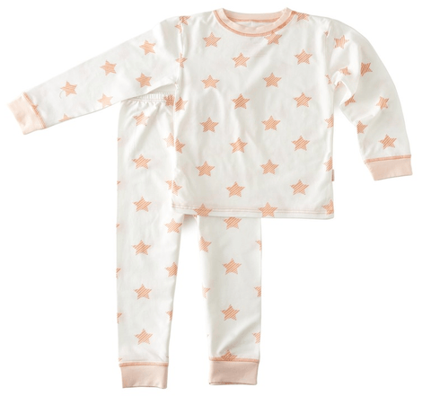 Little Label - Pyjamaset Girls pink stars