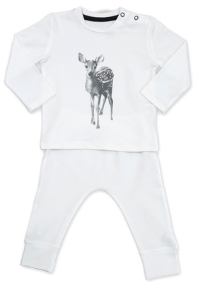 Miss princess and little frog - Pyjamas Tencel long sleeves Bambi