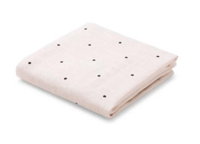 Liewood - Hannah Muslin Cloth Classic Dot Sweet Rose 2 Pack