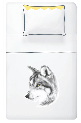Miss Princess and little frog - Set Duvet cover Tencel Wolf