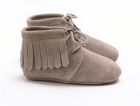 MOCKIES - FRINGE BOOTS TAUPE SUEDE