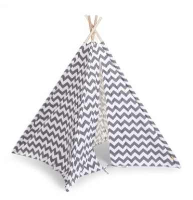 Childhome - TIPI TENT GREY/WHITE ZIGZAG