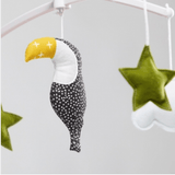 Pouce et Lina - Musical Mobile Black and Green Toucan