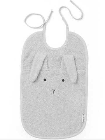 Liewood - Theo terry bib Rabbit dumbo grey