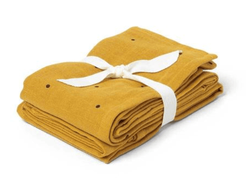 Liewood - Hannah Swaddle 2 pack Mustard