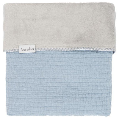 Koeka - Blanket Elba Teddy Soft Blue/Silver Grey