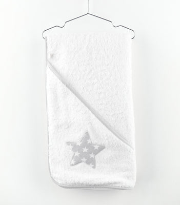 Baby Gi - Bath Towel Little Star White