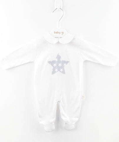 Baby Gi - Babygrow Little Star White