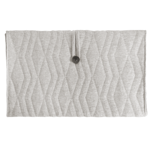 House Of Jamie - Travel Changing Mat Geometry Jacquards Stone