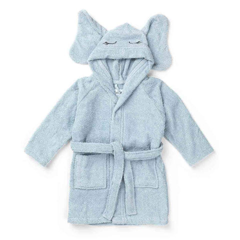 Liewood - Lily Bathrobe Elephant Baby Blue