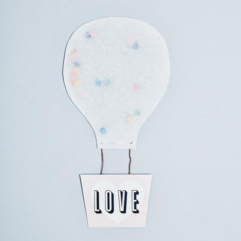 Wishcard Hot Air Balloon LOVE