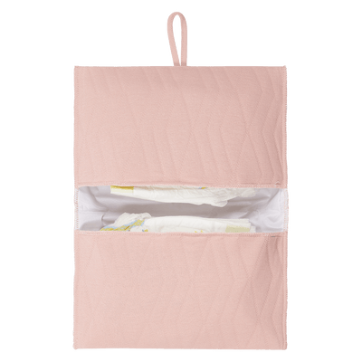 House Of Jamie - Nappy Pouch Geometry Jacquards Powder Pink