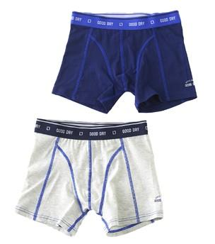 Little Label - Boys boxer shorts (2-pack) Off White & Navy Blue