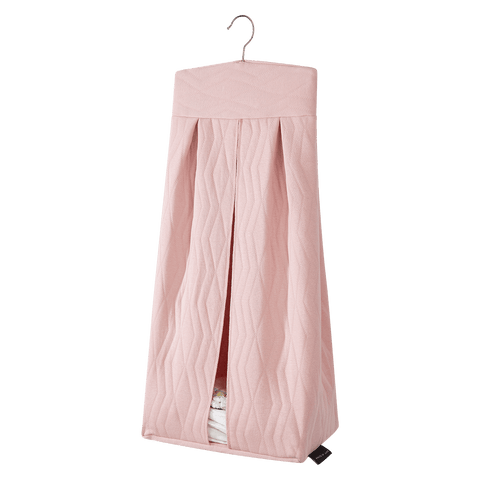 House Of Jamie - Diaper Stacker Geometry Jacquards Powder Pink