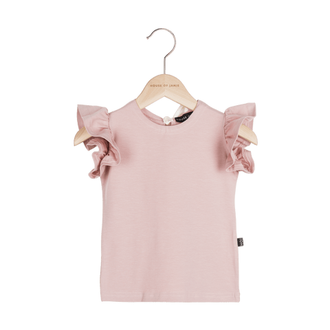 House Of Jamie - Ruffled T-Shirt Powder Pink