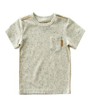 Little Label - Boys T-Shirt Pocket Off White Speckle