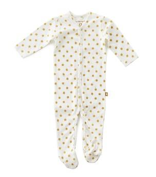 Little Label - Sleep Suit With Feet Brown Clover