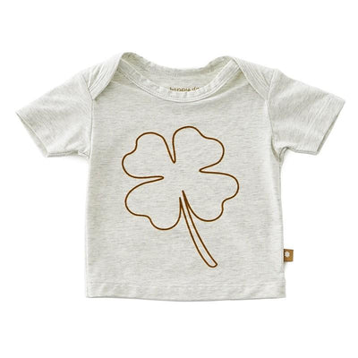 Little Label - Baby T-Shirt Big Brown Clover