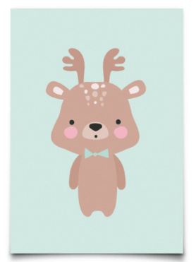 Postcard Eef Lillemor Baby Animals Deer
