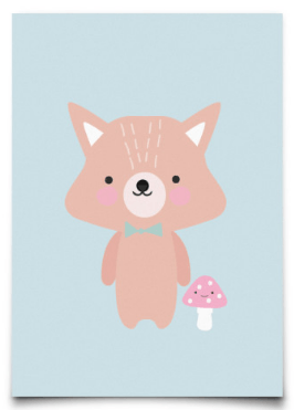 Postcard Eef Lillemor Baby Animals Fox