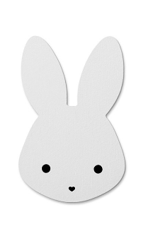 Wall Hook That's Mine Bunny White