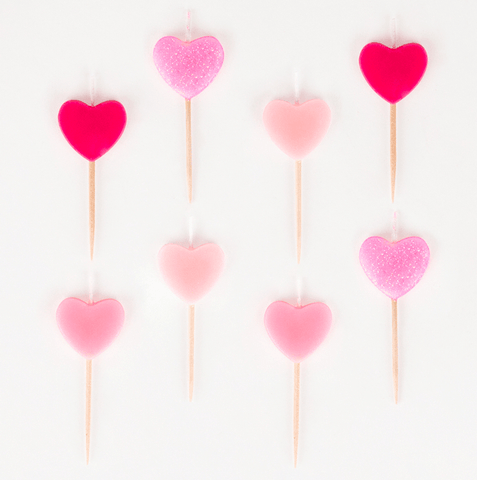 My Little Day - Hearts Candles Pink