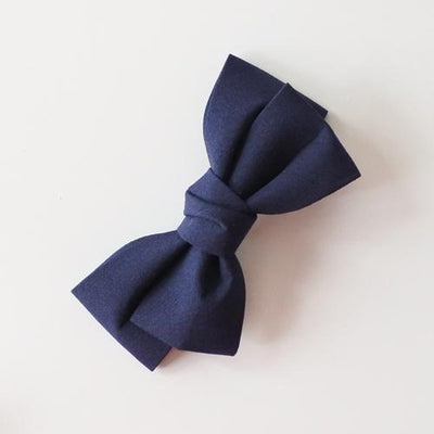 Little Millie - Hairclip Colette Bow Dark Blue