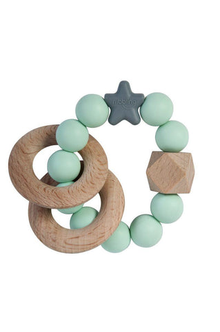 Nibbling - Rattle Natural Wood Mint
