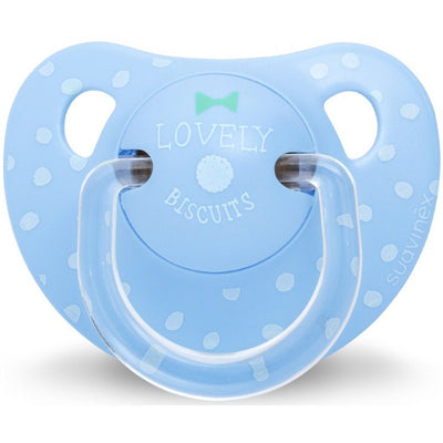 Suavinex - Pacifier Anatomical 6-18 Months Lovely Biscuits Blue