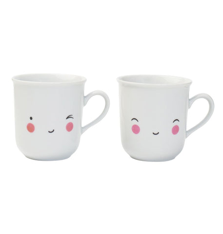 Set of two Tea Cups Happy