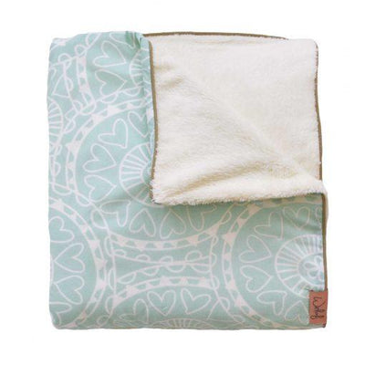 Witlof For Kids - Tuck-Inn Blanket Little Lof Mint/Offwhite