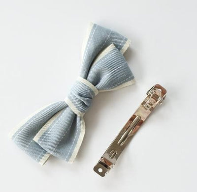 Little Millie - French Clip Addie Bow Light Blue