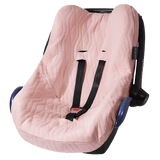 House Of Jamie - Car Seat Cover Geometry Jacquards Powder Pink