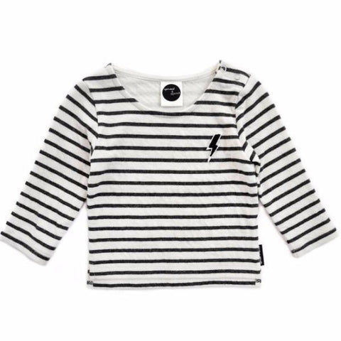 Sproet & Sprout SWEATER STRIPE THUNDERBOLT