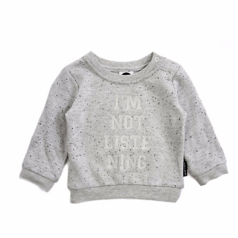 Sproet & Sprout SWEATER 'I'M NOT LISTENING'
