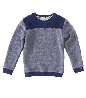Little Label - Sweater dark blue herringbone