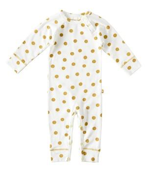 Little Label - Babysuit Big Dots Caramel